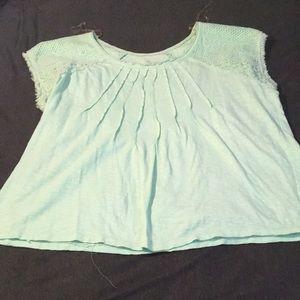 Bandolino Jeans Mint Embroidered sleeveless Shirt